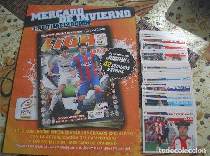 MERCADO INVIERNO + ACTUALIZACION COMPLETO SIN PEGAR ESTE 2015 - 2016 + ALBUM (Coleccionismo Deportivo - Álbumes y Cromos de Deportes - Álbumes de Fútbol Completos)