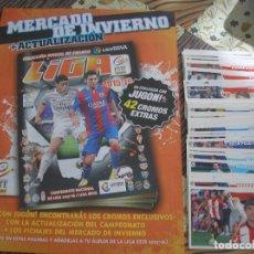 Álbum de fútbol completo: MERCADO INVIERNO + ACTUALIZACION COMPLETO SIN PEGAR ESTE 2015 - 2016 + ALBUM. Lote 114120567