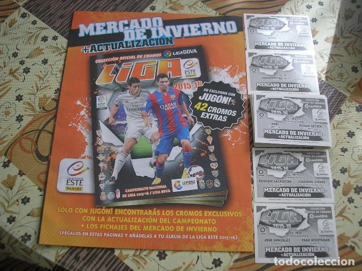 Álbum de fútbol completo: MERCADO INVIERNO + ACTUALIZACION COMPLETO SIN PEGAR ESTE 2015 - 2016 + ALBUM - Foto 2 - 114120567