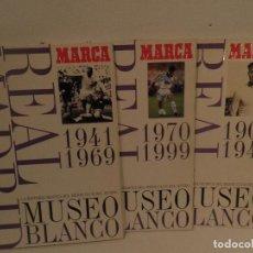 Álbum de fútbol completo: REAL MADRID MUSEO BLANCO, LA HISTORIA DEL MEJOR CLUB DEL MUNDO 3 TOMOS, REGALO PÓSTER, IMPECABLEBLE.. Lote 114128831