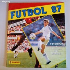 Álbum de fútbol completo: ALBUM COMPLETO CROMOS FUTBOL 87 PANINI. Lote 114279906