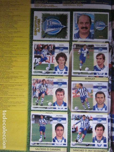 Álbum de fútbol completo: LIGA ESTE 99 00 1999 2000 COMPLETISIMA CON EL COLOCA JAVIER CLEMENTE EN VENTANILLA MIRAR FOTOGRAFIAS - Foto 5 - 116170559