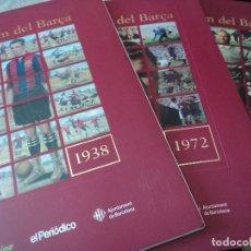 Álbum de fútbol completo: BARÇA CENT ANYS DE RECORDS - 3 ALBUMS COMPLETOS. Lote 116597063