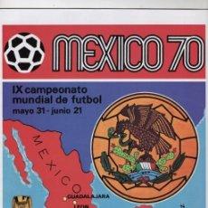 Álbum de fútbol completo: PANINI COPA DEL MUNDO MEXICO 1970 REPRODUCCION ALBUM CROMOS COMPLETO IMPECABLE. Lote 116726671