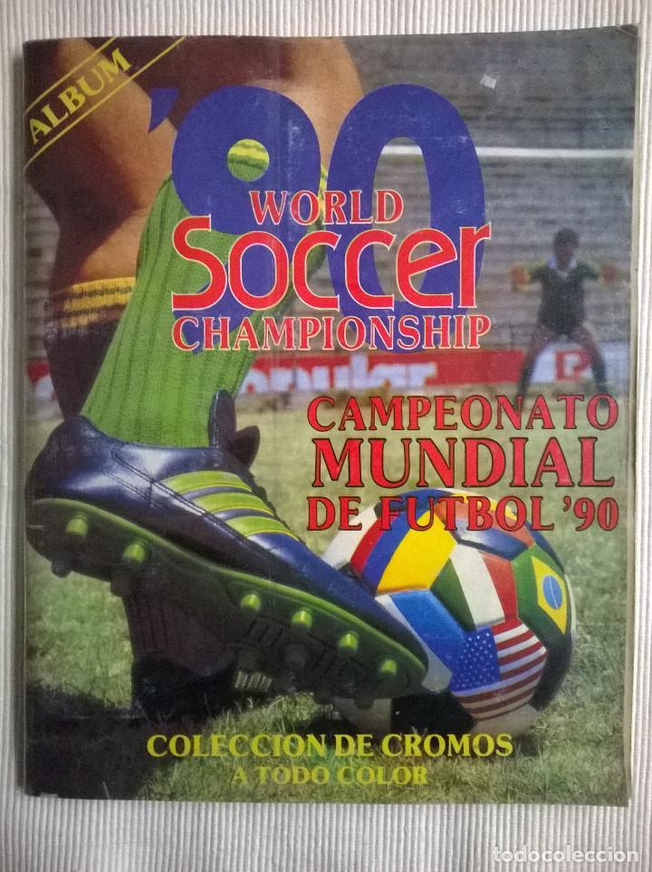 ALBUM CROMOS COPA MUNDIAL 1990 ITALIA 90 100% COMPLETO PRIMERA NAVARRETE PERU EDICION (Coleccionismo Deportivo - Álbumes y Cromos de Deportes - Álbumes de Fútbol Completos)