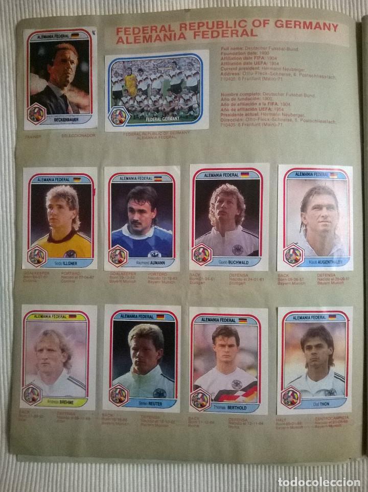 Álbum de fútbol completo: ALBUM CROMOS COPA MUNDIAL 1990 ITALIA 90 100% COMPLETO PRIMERA NAVARRETE PERU EDICION - Foto 4 - 117873995
