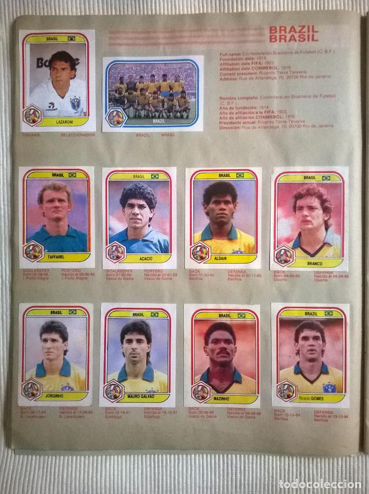 Álbum de fútbol completo: ALBUM CROMOS COPA MUNDIAL 1990 ITALIA 90 100% COMPLETO PRIMERA NAVARRETE PERU EDICION - Foto 6 - 117873995