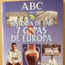 Álbum de fútbol completo: REAL MADRID. HISTORIA DE LAS 7 COPAS DE EUROPA.ABC.1998. COMPLETO. Lote 118774388