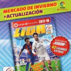 Álbum de fútbol completo: LIGA ESTE 2017 2018 MERCADO DE INVIERNO ACTUALIZACIÓN 42 CROMOS EXTRAS 17 18. Lote 228348700