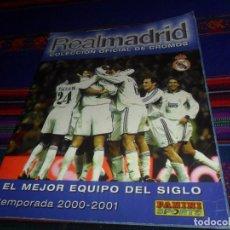 Álbum de fútbol completo: REAL MADRID COLECCIÓN OFICIAL DE CROMOS TEMPORADA 2000 2001 EL MEJOR EQUIPO DEL MUNDO COMPLETO MARCA. Lote 118881959