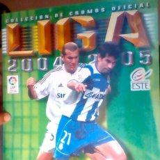 Álbum de fútbol completo: ÁLBUM CROMOS FÚTBOL LIGA ESTE 2004- 2005 CASI COMPLETO. Lote 120021871