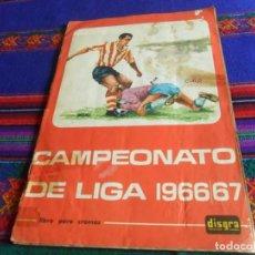 Álbum de fútbol completo: FHER DISGRA CAMPEONATO DE LIGA 1966 1967 66 67 COMPLETO. REGALO 1967 1968 67 68 INCOMPLETO.. Lote 120210527