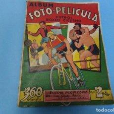 Álbum de fútbol completo: ALBUM FOTO-PELICULA, COMPLETO 360 CROMOS FUTBOL CICLISMO Y BOXEO 1943-1944. Lote 120791347