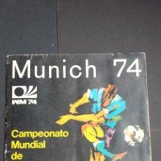 Álbum de fútbol completo: ALBUM MUNDIAL MUNICH 74 - VULCANO - COMPLETO. ( IMÁGENES DE TODO EL ALBUM ). Lote 121561388