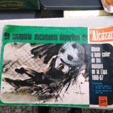 Álbum de fútbol completo: ÁLBUM EL ALCÁZAR 1966-67. Lote 122166115