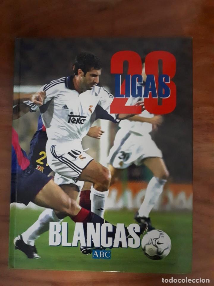 28 LIGAS BLANCAS REAL MADRID (Coleccionismo Deportivo - Álbumes y Cromos de Deportes - Álbumes de Fútbol Completos)