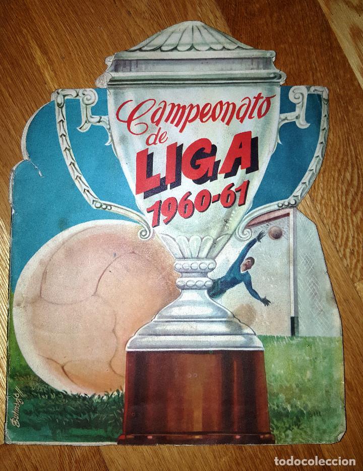 BUSCADO ALBUM CAMPEONATO DE LIGA 1960 - 61 EDITORIAL FHER COMPLETO + SOBRE VACIO (Coleccionismo Deportivo - Álbumes y Cromos de Deportes - Álbumes de Fútbol Completos)