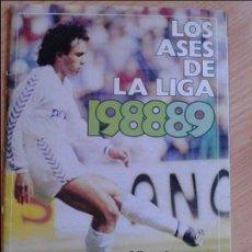 Álbum de fútbol completo: ALBUM COMPLETO DE FUTBOL DE LOS ASES DE LA LIGA 88-89 TODO EN EL INTERIOR. Lote 125192031