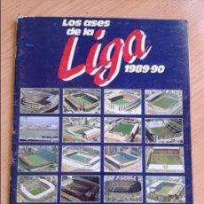 Álbum de fútbol completo: ALBUM FUTBOL LOS ASES DE LA LIGA 89-90 COMPLETO DE AS TODO EN EL INTERIOR. Lote 125193291