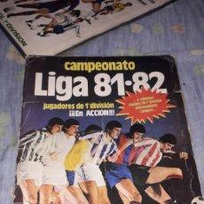 Álbum de fútbol completo: CAMPEONATO LIGA 81-82 ESTE CON 320CROMOS COMPLETO. Lote 125207031