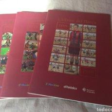 Álbum de fútbol completo: L'ÁLBUM DEL BARÇA, EDICION DE EL PERIÓDICO AÑO 99,TRES EDICIONES COMPLETO. Lote 125215292