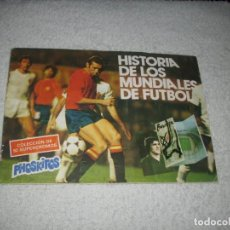 Álbum de fútbol completo: -ALBUM PHOSKITOS : HISTORIA DE LOS MUNDIALES DE FUTBOL 1982 -- COMPLETO --. Lote 126867943