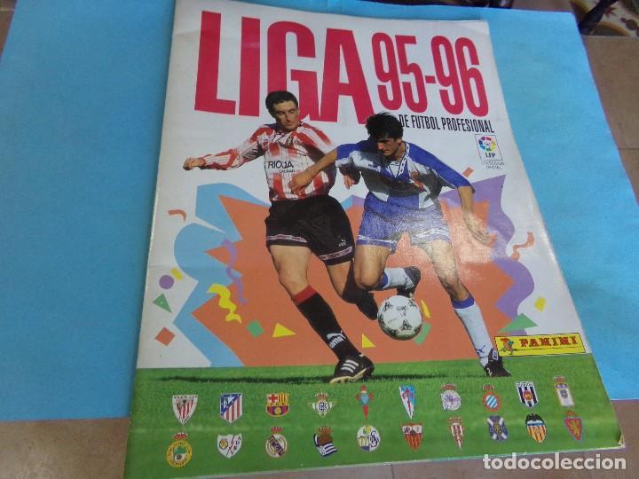 ALBUM LIGA 95-96 DE PANINI, COMPLETO 376 CROMOS, 340 MAS 36 FICHAJES (Coleccionismo Deportivo - Álbumes y Cromos de Deportes - Álbumes de Fútbol Completos)