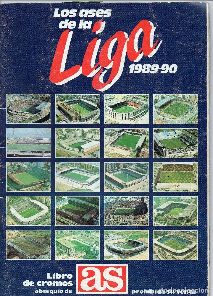ALBUM LOS ASES DE LA LIGA 1989-90, COMPLETO 260 CROMOS (Coleccionismo Deportivo - Álbumes y Cromos de Deportes - Álbumes de Fútbol Completos)