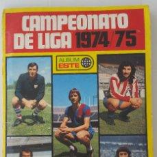 Álbum de fútbol completo: ÁLBUM 1974 1975 ESTE 74 75 COMPLETO TODO LO EDITADO MENOS LOS 3 IMPOSIBLES MARINHO, ASLUND Y CAMACHO. Lote 128047131