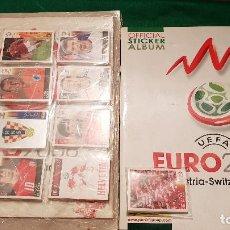 Álbum de fútbol completo: PANINI UEFA EURO 2008 AUSTRIA SUIZA 2 ALBUM VACIOS PLANCHA + COLECCIÓN SIN PEGAR + EXTRAS RONALDO. Lote 128058467