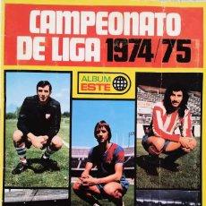 Álbum de fútbol completo: ÁLBUM 1974 1975 ESTE 74 75 HIPERCOMPLETO CON LOS IMPOSIBLES MARINHO, ASLUND Y CAMACHO. Lote 128088107
