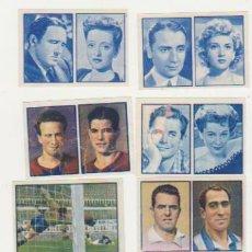 Álbum de fútbol completo: 2º ÁLBUM GALLINA BLANCA. LOTE DE 12 CROMOS: CINE, FÚTBOL, BOXEO, CICLISMO, NATACIÓN…? SIN PEGAR.. Lote 128633528