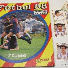 Álbum de fútbol completo: ALBUM CROMOS FUTBOL 88 PANINI CON 86 CROMOS. Lote 128668068