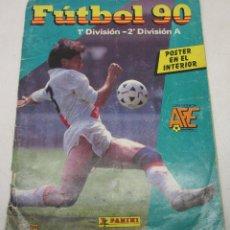 Álbum de fútbol completo: ALBUM CROMOS FUTBOL 90 PANINI CON 266 CROMOS. Lote 128668835