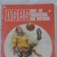 Álbum de fútbol completo: ALBUM CROMOS COMPLETO ASES DEL MUNDIAL DE MEXICO 70 DISGRA. Lote 128696267