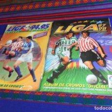 Álbum de fútbol completo: ESTE LIGA 94 95 1994 1995 COMPLETO CON MUCHOS DOBLES Y COLOCAS. REGALO 97 98 1997 1998 INCOMPLETO.. Lote 129433415