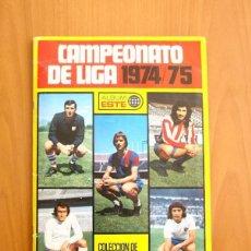 Álbum de fútbol completo: CAMPEONATO DE LIGA 1974-1975, 74-75 - EDICIONES ESTE - COMPLETO, CON UN SOLO CROMO POR CASILLA. Lote 129685135