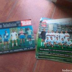 Álbum de fútbol completo: ALBUM FUTBOL FUTBOLISTICO 1967-68 MAS COLECCION DE POSTERS.EL ALCAZAR.COMPLETO.GRAN ESTADO.. Lote 131191079