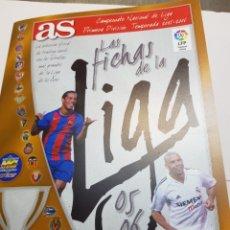 Álbum de fútbol completo: ALBUM COMPLETO LAS FICHAS DE LA LIGA 05/06 AS. Lote 131607813