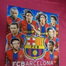 Caderneta de futebol completa: ALBUM DE CROMOS COMPLETO. F.C. BARCELONA TEMPORADA 2007-2008. PANINI SPORTS. Lote 132220590