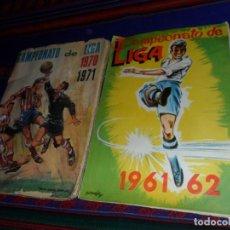 Álbum de fútbol completo: CAMPEONATO DE LIGA 1961 1962 61 62 COMPLETO CON CUPÓN FHER. REGALO 1970 1971 70 71 FHER INCOMPLETO.. Lote 132352910