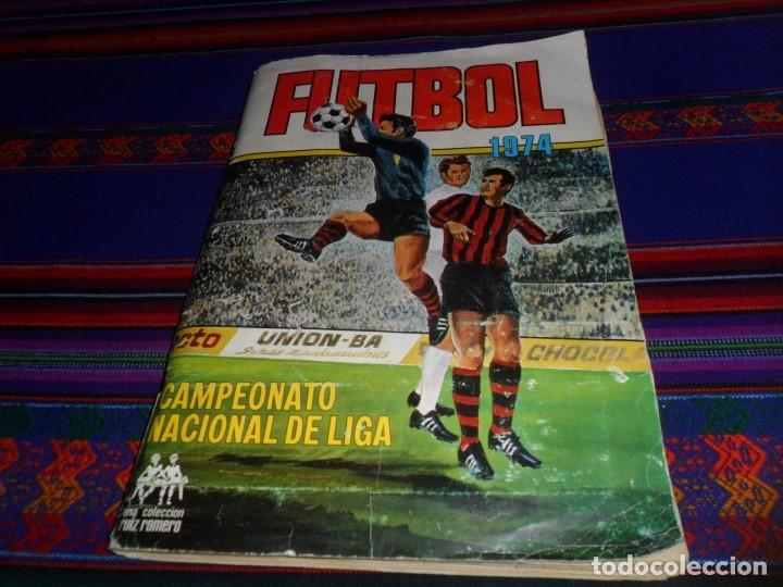 FÚTBOL 1973 1974 COMPLETO 3 DOBLES RUIZ ROMERO. BE. REGALO FÚTBOL 1968 1969 RUIZ ROMERO INCOMPLETO (Coleccionismo Deportivo - Álbumes y Cromos de Deportes - Álbumes de Fútbol Completos)