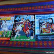 Álbum de fútbol completo: ESTE LIGA 2011 2012 11 12 COMPLETO + MERCADO DE INVIERNO + AMPLIACIÓN, LIGA 2017 2018 17 18 COMPLETO. Lote 133542134