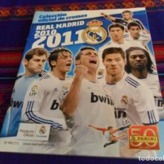 Caderneta de futebol completa: COLECCIÓN OFICIAL DE CROMOS REAL MADRID 2010 2011 10 11 COMPLETO. MUY BUEN ESTADO.. Lote 134151826
