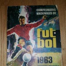 Álbum de fútbol completo: ALBUM FUTBOL CAMPEONATOS NACIONALES 1963 RUIZ ROMERO. Lote 134502302