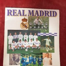 Álbum de fútbol completo: ALBUM CROMOS FUTBOL COMPLETO REAL MADRID PANINI VER TODAS LAS FOTOS 1995 34,5X27CMS. Lote 134730298