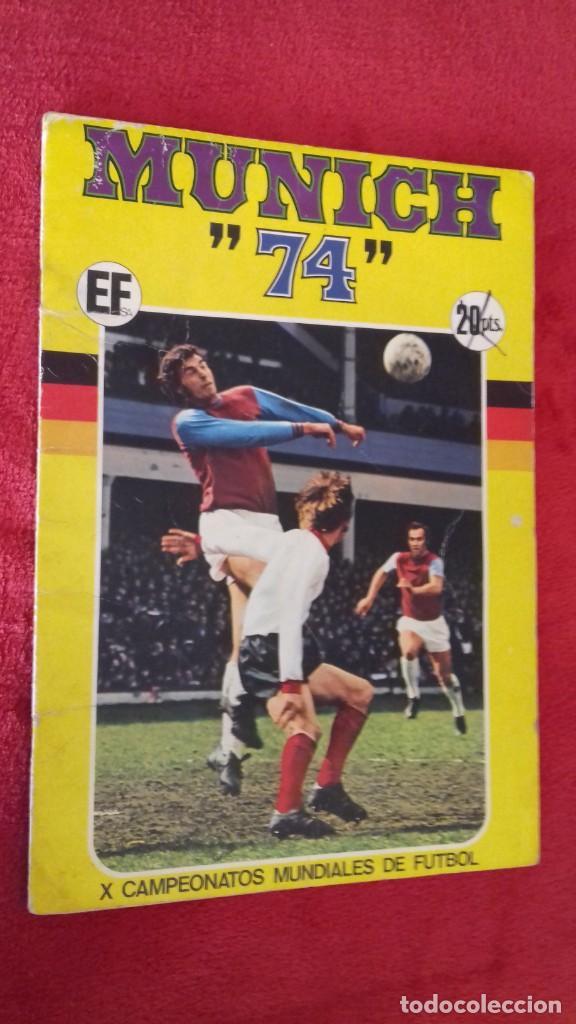ALBUM MUNICH 74 MUNDIAL FUTBOL 1974 COMPLETO (Coleccionismo Deportivo - Álbumes y Cromos de Deportes - Álbumes de Fútbol Completos)