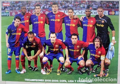 Álbum de fútbol completo: Lote Barcelona: Libro de oro Barsa 1899 1995, Cromos historicos 1973 a 1999 y POSTER FINAL CHAMPIONS - Foto 2 - 135738799