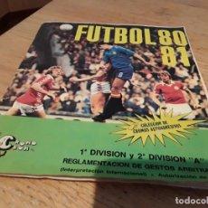 Álbum de fútbol completo: ÁLBUM FÚTBOL 80 81 CROMO CROM COMPLETO.. Lote 136371778