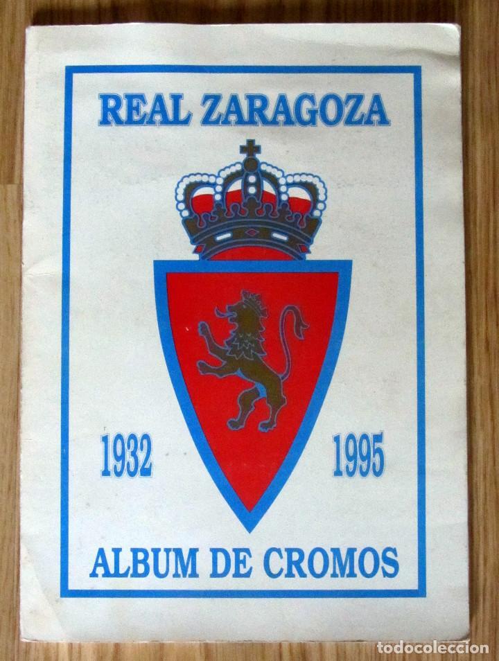 ALBUM REAL ZARAGOZA 1932 1995 PLANTILLA CAMPEON RECOPA (Coleccionismo Deportivo - Álbumes y Cromos de Deportes - Álbumes de Fútbol Completos)